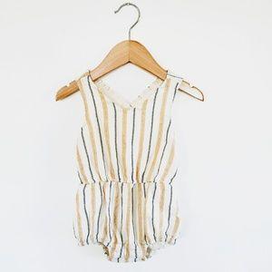 Old Navy | Metallic Stripped Onesie Bodysuit